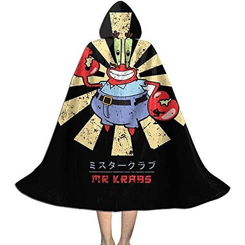 Niet van toepassing volwassen mantel mantel, unisex cosplay rol kostuums, capuchon cape, de heer Krabs Retro Japanse spongebob vampier mantel, halloween partij decoratie bovenkleding, wizard mantel