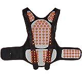 Soporte lumbar y cinturón de apoyo, turmalina autocalentamiento térmico magnético para alivio del dolor de cuello, espalda y hombro, M