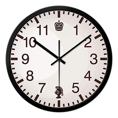 Personnalisé mode d'horloge murale salon chambre à coucher créative quartz montres moderne minimaliste muet avec grande horloge (Couleur : 1#, taille : 30cm)
