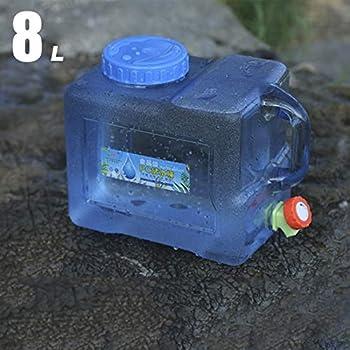 Easy-topbuy Camping avec Un Robinet Réservoirs d'eau Bidon d'eau Seau De Camping Jerrican Bidon avec Robinet Et Poignée Camping Réservoir d'eau Potable avec Bec Verseur en Plastique Epais 5L 8L