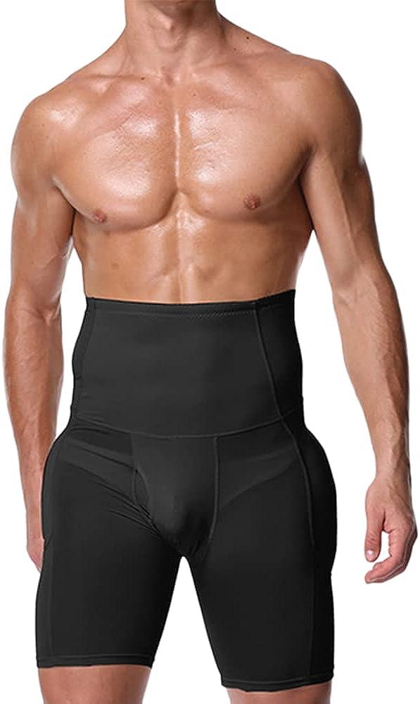 Mens Hip Enhancer Shorts Underwear Boxer Shapewear Butt Lifter Tummy Control Shorts High Waist Abdomen Leg Slimming (Color:,Size:XL)