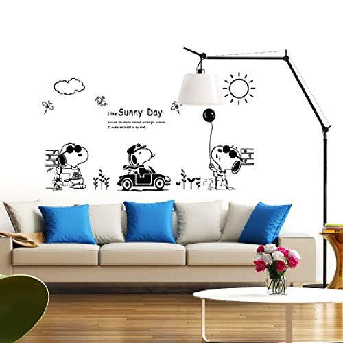 Diy cartoon snoopy aufkleber wandaufkleber wohnzimmer schlafzimmer dekorative aufkleber