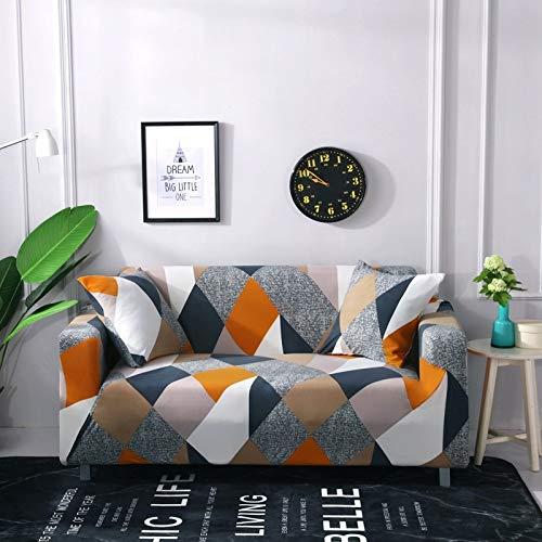 WXQY Geometrisch elastische Wohnzimmer Sofabezug, Moderne Querschnitt Ecksofabezug, Sofabezug, Stuhlschutzbezug A8 1-Sitzer