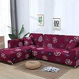 stqjh 1 / 2Piece Sofa Cover elastische Couch Cover Sofa Cover für Wohnzimmer Bitte bestellen Sie 2 Stück, wenn L-förmige Ecke Chaise Longue Sofa ist,Color 8,Pillow case-2pcs