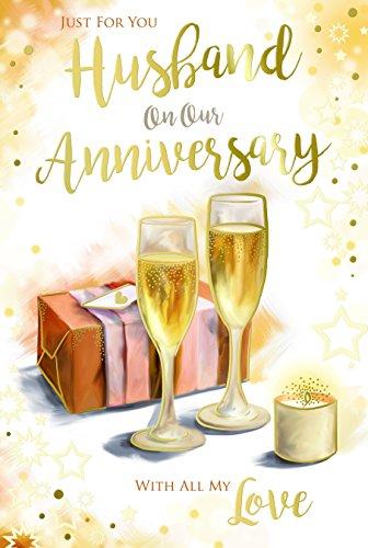 Gewoon voor u man op onze verjaardag champagne cadeau & kaars ontwerp kaart