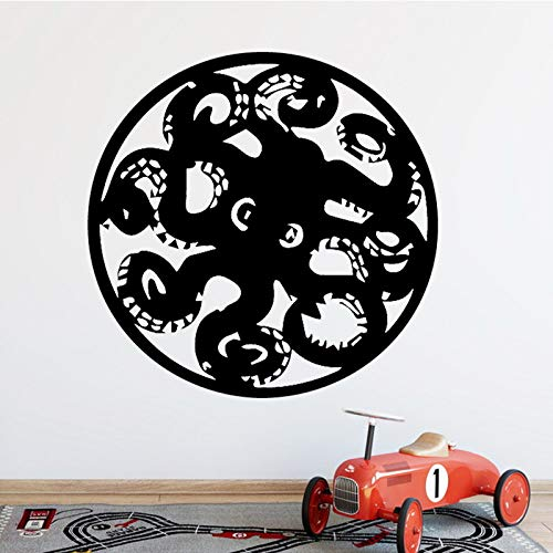 Creative Octopus Prints Wall Sticker for Home Decor Living Room Boys Accessories Decals Waterproof Art Stickers Pink L 43cm X 42cm