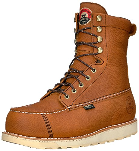 Irish Setter Men's Wingshooter Safety Toe 8' Work Boot, Brown, 10.5 2E US