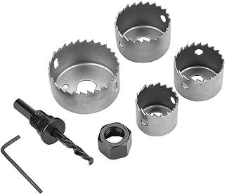 Perforar en Metal y Inoxidable Janjunsi Coronas Perforadoras Sierra de Corona Broca Circular de Carburo Grado industrial 105mm