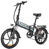 BIKFUN Bicicleta Electrica Plegable con Batería 48V 10Ah, Bicicleta Eléctrica Adulto de 20 Pulgadas, 350W Motor Sin Escobillas, Shimano de 7 Velocidades hasta 30km/h para los Desplazamientos Diarios