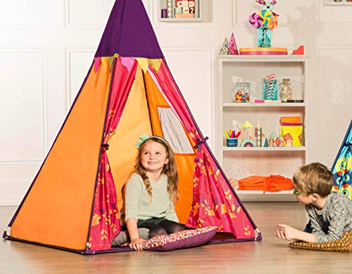 B. Toys - Tienda de campaña Infantil para niños - Tienda de campaña Interior con Luces - Linterna extraíble - Fácil Montaje - Colorida casa de Juegos - 4.5 pies de Altura - 3 años +