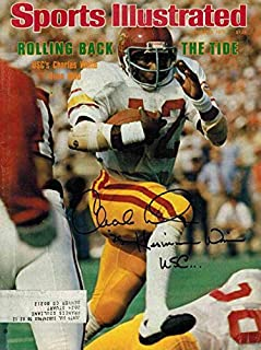 Charles White Autographed/Signed USC Trojans Sports Illustrated 10/2/1978 15577 - Autographed College Magazines