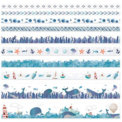 Tding bijzonder 10 Rolls/Set Natuur Bloemen Dier Thema Washi Tape Lijm Decoratieve Tape Voor Hand Account Decoratie