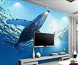 Decoración Mural De Papel Tapiz 3D Ballena De Mar Azul Papel Pintado Del Dormitorio Moderno Del Fondo De La Tv 3D