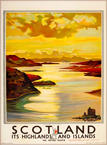 Vintage Scottish Travel Poster