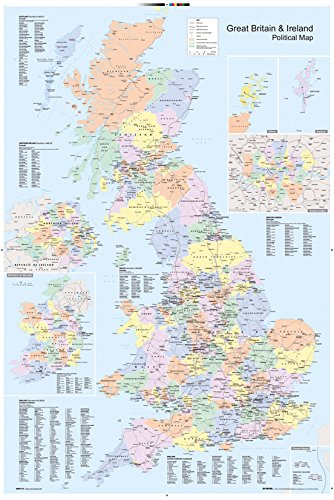 GB Eye Ltd, UK Map, Political, Maxi Poster, (61x91.5cm) GN0147