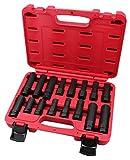Kauplus 16PCS Master Wheel Locking Lug Key Set, Wheel Lock Removal Kit