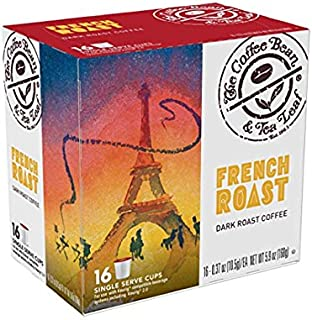 Coffee Bean & Tea Leaf French Dark Roast Single Serve Kcups (16 ct) for Keurig Compatible Single Serve Machines