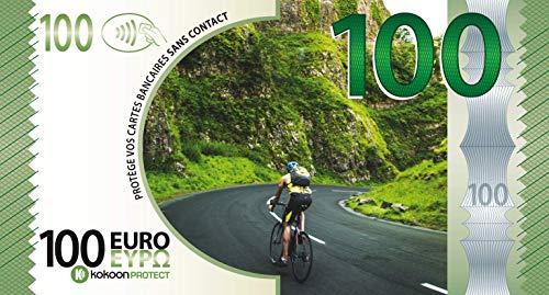 Kokoon Banknote, banconote che protegge le carte di credito, visione Sport CyCLISME