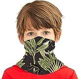 Tropical Vintage Mono Palmeras Plátano Animales Versátil Multifunción Sombreros Cuello Polaina Pasamontañas Forro de casco Riding Face Cover para niños al aire libre Protección UV