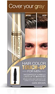 Cover Your Gray for Men Waterproof Brush-In Hair Color Touchup for Men - Dark Brown