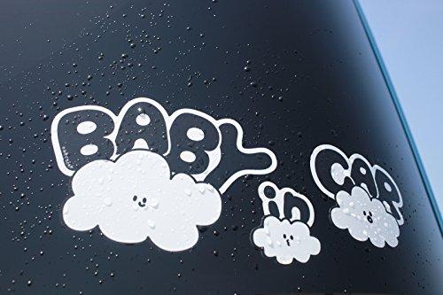 『No BoRDER(ノーボーダー) BABY IN CAR ステッカー オリジナルドライブサイン CLOUD FAMILY 【シールタイプ】 STC-002AG/S』の4枚目の画像