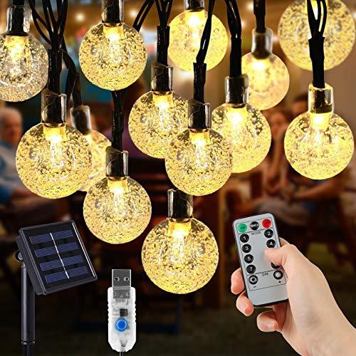 opamoo Guirnaldas Luces Exterior Solar, cadena de luz solar, utilizada para decorar...