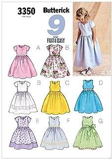 BUTTERICK PATTERNS B3350 Children's/Girls' Dress, Size 2-3-4-5
