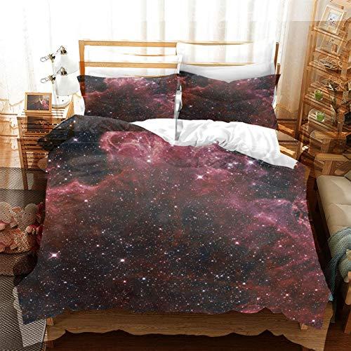 FOssIqU Ropa de cama de fibra de poliéster 200x200cm Galaxia del universo estrellado Hogar dormitorio infantil niño niña dormitorio patrón de impresión 3d algodón puro transpirable super suave 3 futón