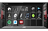 JVC Multimedia Receiver w/WVGA Clear Resistive Touch Monitor, 6.2' (KW-V240BT)