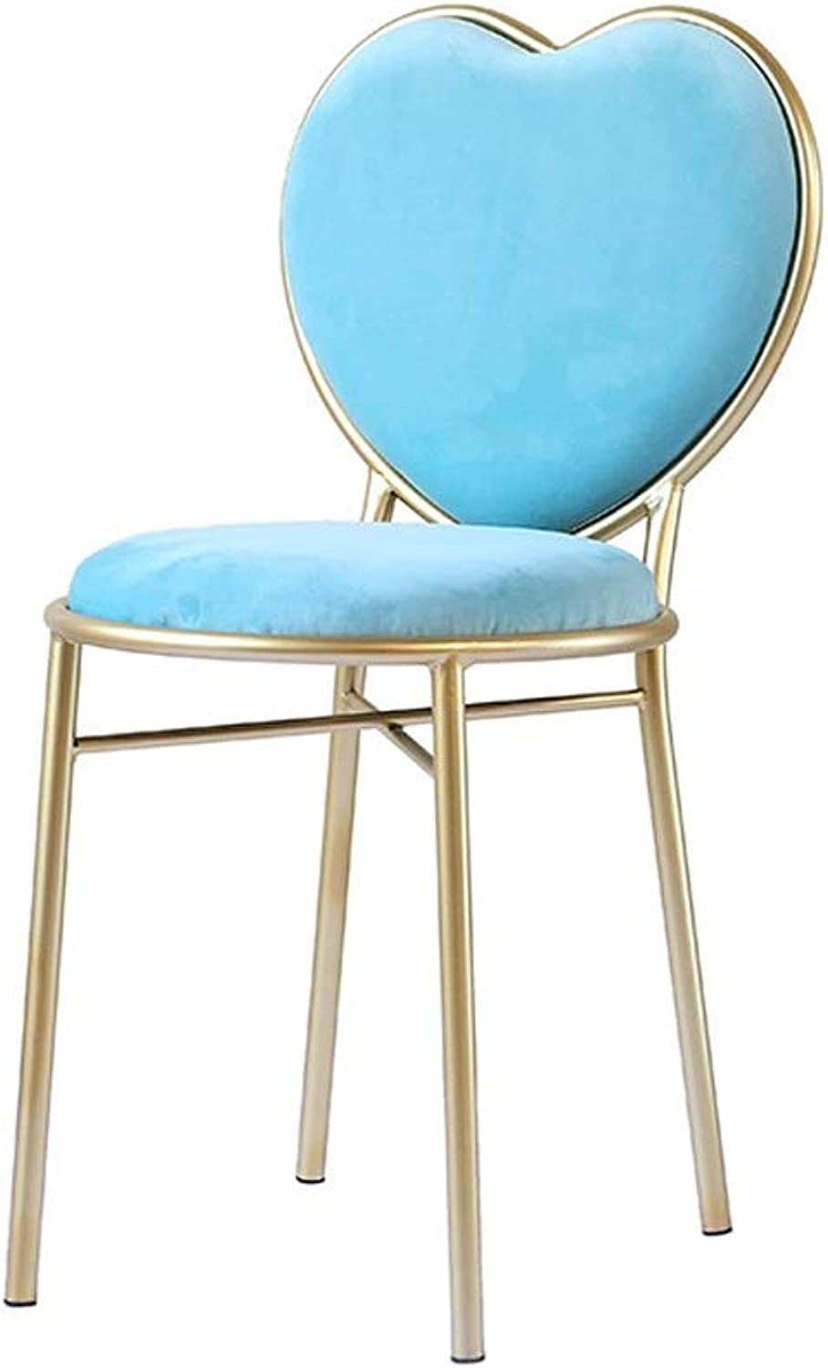Dining Chair Bar Chair Dressing Table Counter Chair Cafe Restaurant Dining Table Chair Home Office Backrest Leisure Chair (color   Sky bluee)