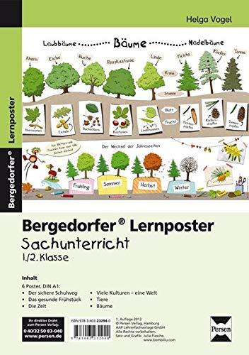Lernposter Sachunterricht - 1./2. Klasse: 6 Poster für den Klassenraum (Bergedorfer® Lernposter)