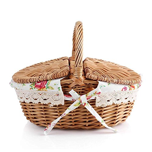 Fdit Picknickkorb, Container mit Griffen und rutschsicher Urlaub Camping Verwenden Home Hochzeit Dekoration
