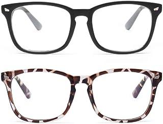 عینک مسدود کننده نور آبی Livho 2 Pack ، عینک خواندن کامپیوتر / بازی / تلویزیون / تلفن برای آقایان ، ضد خستگی چشم