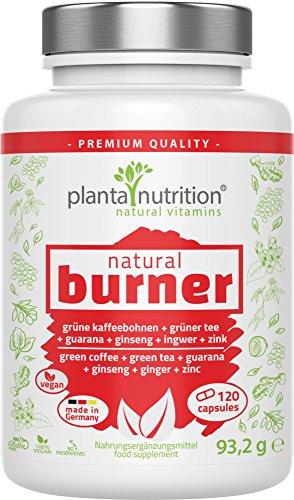 natural burner - natürlicher Fettverbrenner - Fatburner, 120 Kapseln, vegan, hochdosiert - Abnehmen, Stoffwechsel, Gewichtsverlust, Diätpillen
