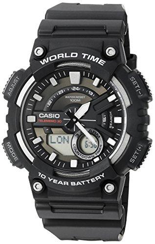 Casio Homme Analogique/Digital Quartz Montre avec Bracelet en Rsine AEQ110W-1AV
