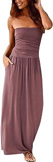 Vestido Largo para Mujer, Estilo Bohemio