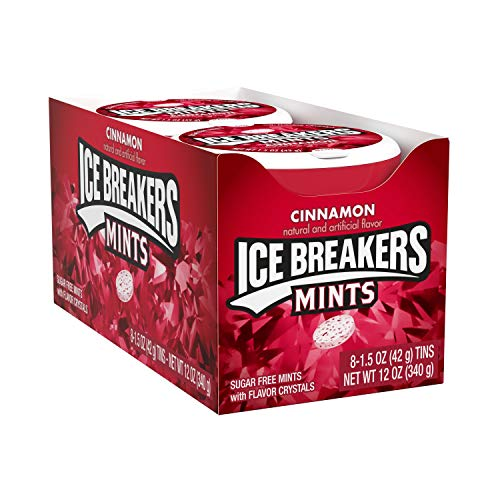 ICE BREAKERS Sugar Free Mints, Cinnamon, 1.5 Ounce (Pack of 8) from The Hershey Company