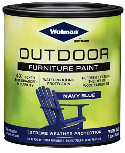 Wolman 360349 Outdoor Furniture Paint, Quart, Navy Blue