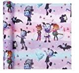 VAMPIRINA PURPLE THEME GIFT WRAPPING PAPER 20 sq ft.(1 Roll)