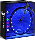 Activ Life Bike Wheel Lights (2 Tires, Blue) Best Gifts for Men for Christmas Stocking Stuffers &...