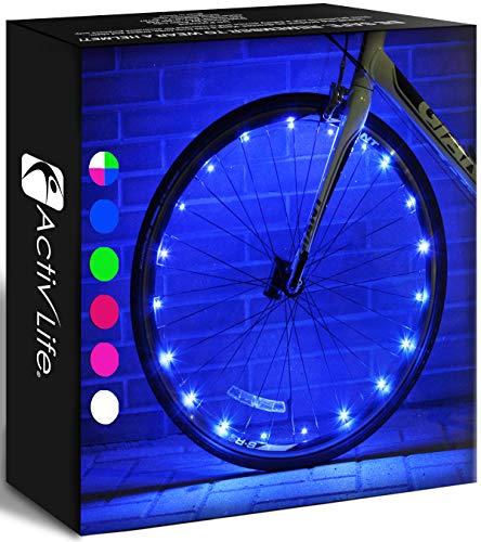 Activ Life Luces de Rueda de Bicicleta (1 neumático, Azul)