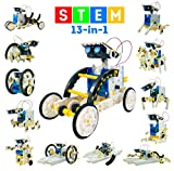 13-in-1 Stem Toys Educational Solar Robot Kit - 195PCS Building Toys Science Kits for Kids - DIY Gifts for Boys Girls Teens Aged 8-12 and Up - Engineering Robotics Kit with Motorized Engine & Gears