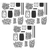3 piezas de sellos de silicona transparente DIY sello decorativo botella de flores papel bolsillo decoración kits para DIY scrapbooking álbum tarjeta hacer