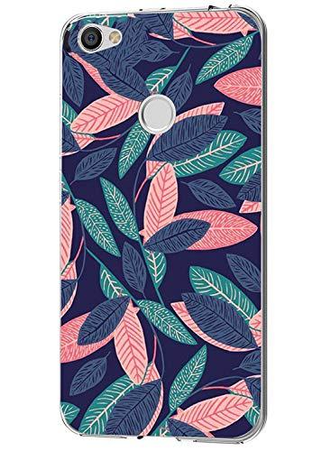 Caler ® Funda Compatible/Reemplazo para Xiaomi Redmi Note 5A Funda, Suave TPU Gel Silicona Ultra-Delgado Ligera Anti-rasguños Carcasa Dibujos Animal Lindo Protección (Hojas Frescas)