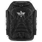 Gym Duffle Bag for MMA, BJJ, Jiu Jitsu, Boxing Gear, Elite Sports Duffel Athletic Expandable Gym Backpack (Black)