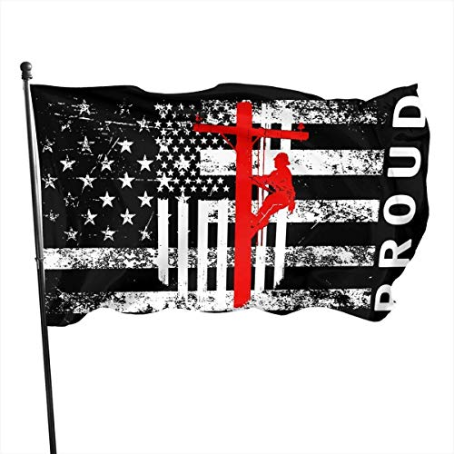 Hdadwy American Lineman Proud USA U-Boot SSBN Abschreckungspatrouille Flagge Hausgarten Outdoor Flagge 3x5 Ft