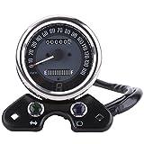 EBTOOLS Universal Moto Odómetro Velocímetro Velocímetro Medidor Gear Pantalla digital 9.5cm Orificio de montaje