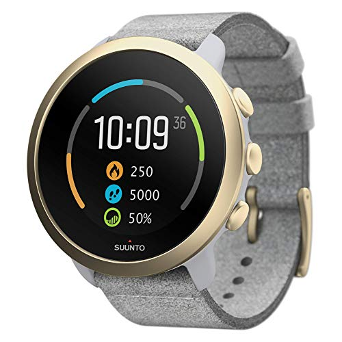 Suunto 3 Fitness Tracker Sports Watch, Pebble White/Light Gold