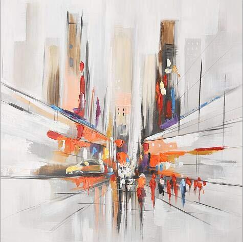 wjwei Pintura Al Óleo Abstracta Moderna sobre Lienzo Arte