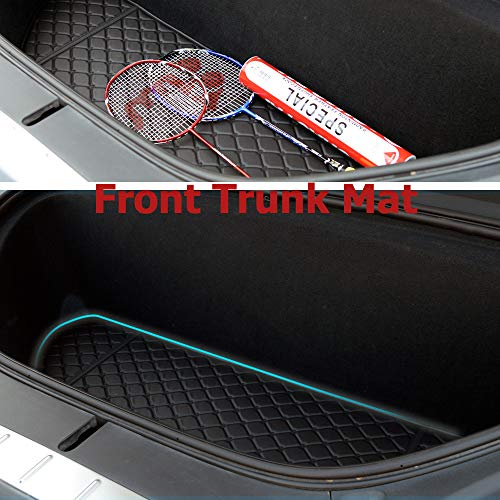 Topfit Model X 6 seat and 7 Seat Front and Rear Trunk Mat and 3rd Row Seat Back Protector Mats for Tesla Model X (2016-2020) Models - Laser Measured (4 Pcs) New Jersey